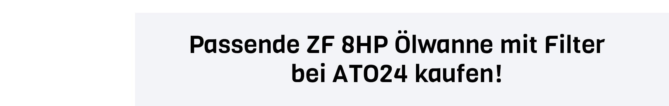 ZF Getriebeöl Filter