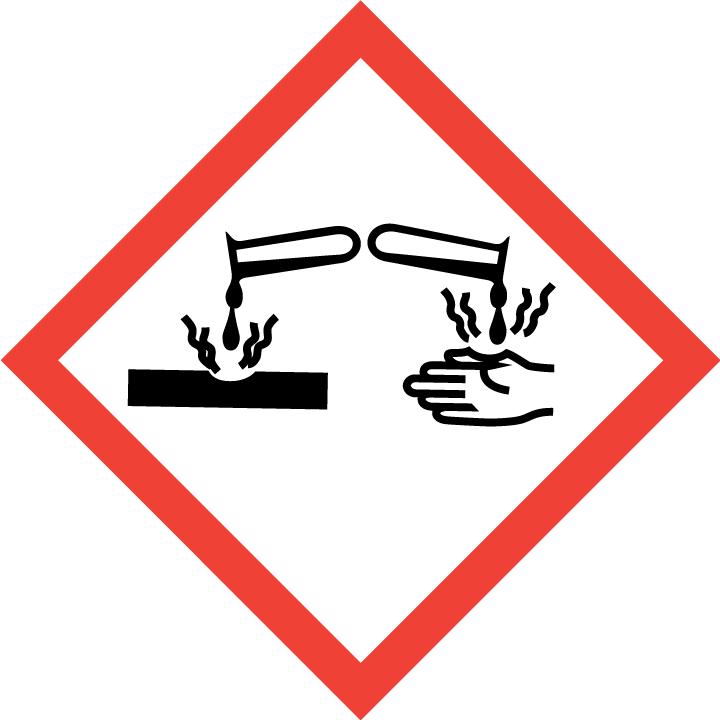 GHS05 - Gefahr oder Achtung