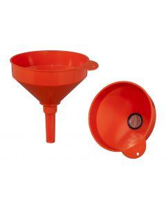 RAVENOL Plastik-Trichter mit Messingsieb gerade 200 mm