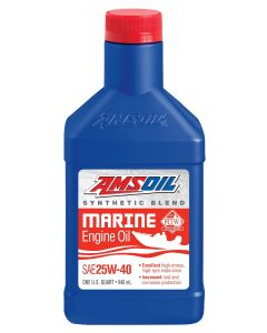 amsoil synthetic blend marine engine oil sae 25w-40