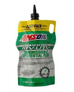 AMSOIL Synthetic ATV/UTV Transmission & Differential Fluid Easy Pack 0.946 L