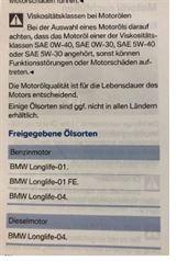 1er BMW Motoroel