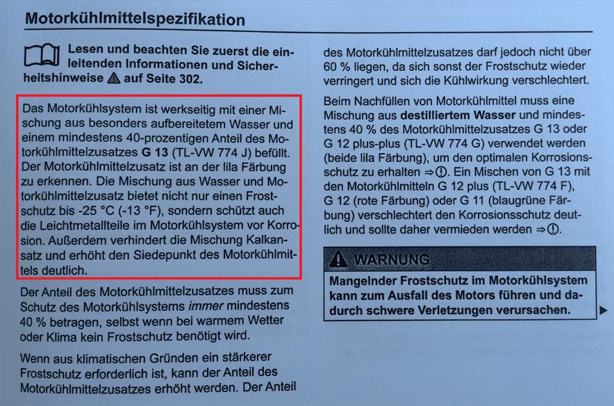VW Kuehlmittel kaufen